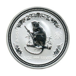 Silbermünze Lunar